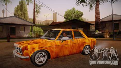 Datsun 510 RB26DETT Black Revel для GTA San Andreas вид сбоку