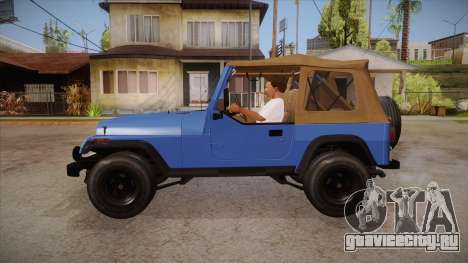 Jeep Wrangler V10 TT Black Revel для GTA San Andreas вид слева