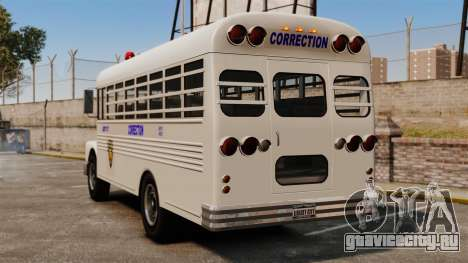 Тюремный автобус Liberty City для GTA 4 вид сзади слева