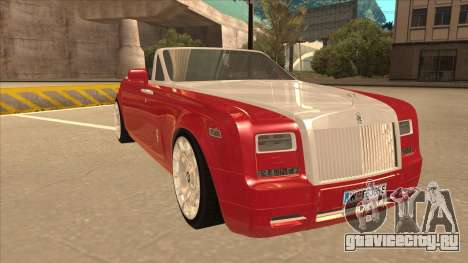 Rolls Royce Phantom Drophead Coupe 2013 для GTA San Andreas вид слева