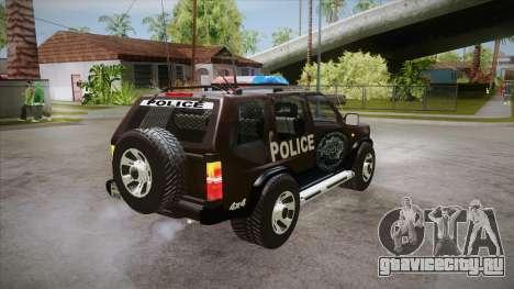 Nissan Terrano RB26DETT Police для GTA San Andreas вид справа