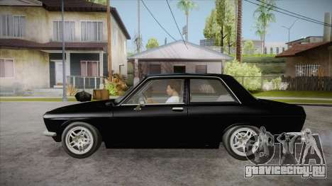 Datsun 510 RB26DETT Black Revel для GTA San Andreas вид слева