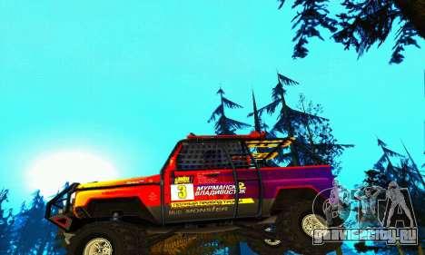 УАЗ Хантер Триал для GTA San Andreas вид снизу