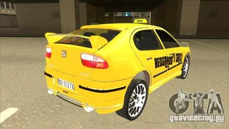 Seat Leon Belgrade Taxi для GTA San Andreas вид справа