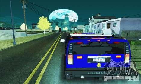 Hummer H2 G.E.O.S. для GTA San Andreas вид сзади слева