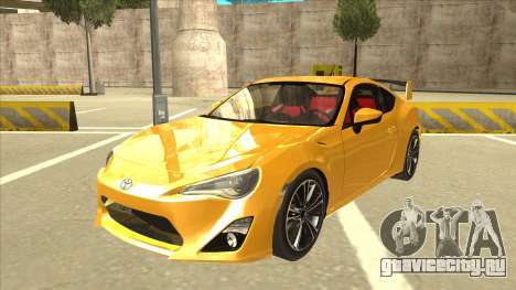 TOYOTA GT86 2JZ-GTE Black Revel для GTA San Andreas