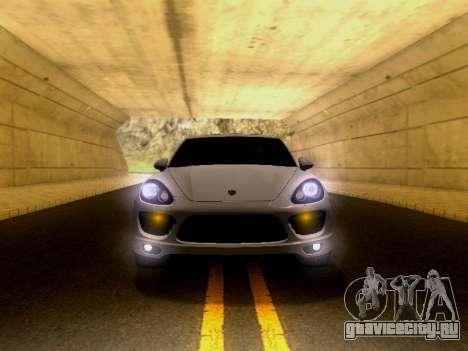 Porsche Cayenne Turbo S 2013 V1.0 для GTA San Andreas вид сзади