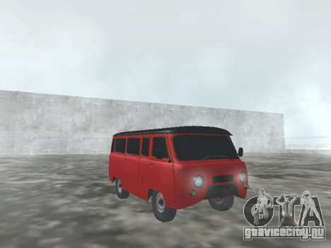 УАЗ 22069 для GTA San Andreas вид изнутри