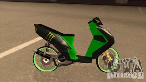 Yamaha Mio Soul 2 Monster Energy для GTA San Andreas вид слева