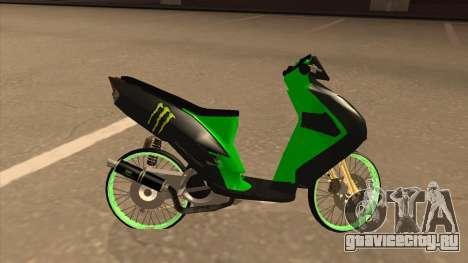 Yamaha Mio Soul 2 Monster Energy для GTA San Andreas вид слева