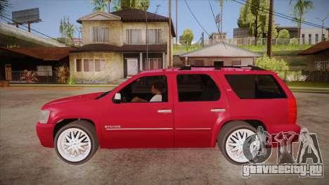 Chevrolet Tahoe LTZ 2013 Custom для GTA San Andreas вид слева