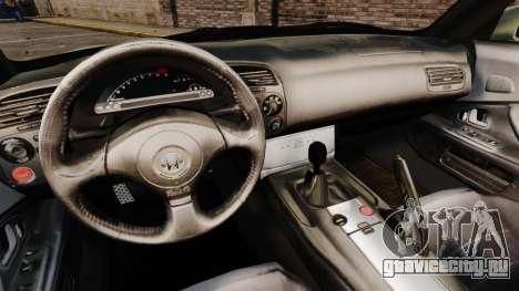 Honda S2000 для GTA 4 вид изнутри
