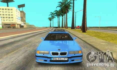 BMW M3 (E36) для GTA San Andreas вид изнутри