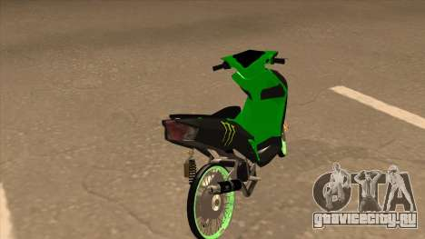 Yamaha Mio Soul 2 Monster Energy для GTA San Andreas вид сзади слева