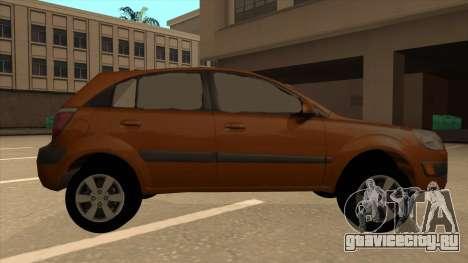 KIA RIO II 5 DOOR для GTA San Andreas вид сзади слева