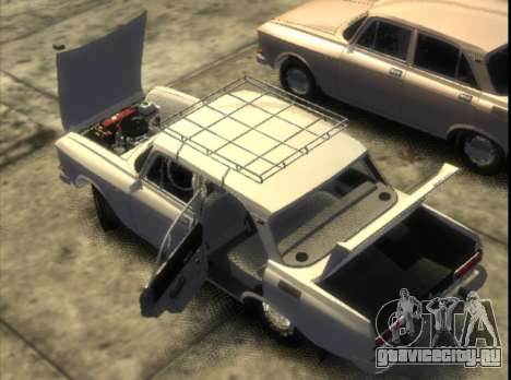 АЗЛК 2140 1976 для GTA 4 вид сзади слева