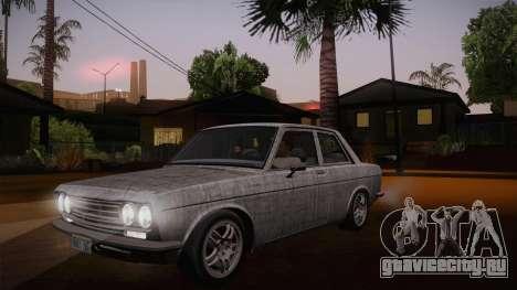 Datsun 510 RB26DETT Black Revel для GTA San Andreas вид снизу