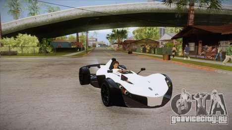 BAC Mono 2011 для GTA San Andreas вид сзади