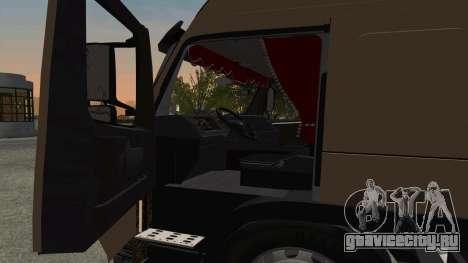 Volvo FM16 для GTA San Andreas вид изнутри