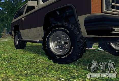 Rancher Bronco для GTA San Andreas салон