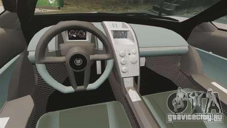 Cadillac Cien XV12 [EPM] для GTA 4 вид изнутри