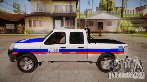 Ford Ranger 2011 Province of Buenos Aires Police для GTA San Andreas вид слева