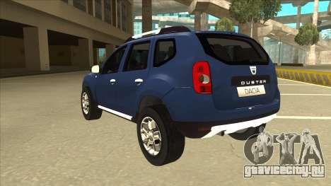 Dacia Duster 2014 для GTA San Andreas вид сзади