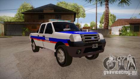Ford Ranger 2011 Province of Buenos Aires Police для GTA San Andreas вид сзади