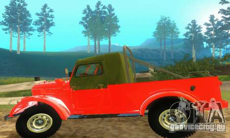 ГАЗ 69 Пикап для GTA San Andreas вид изнутри