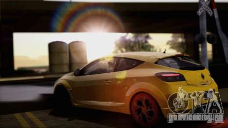 Renault Megane RS Tunable для GTA San Andreas салон