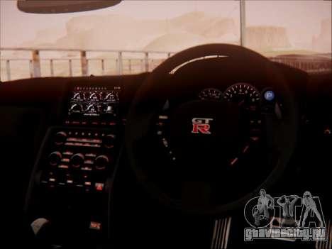 Nissan GT-R R35 Spec V 2010 для GTA San Andreas вид сверху
