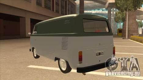 VW T2 Van для GTA San Andreas вид сзади