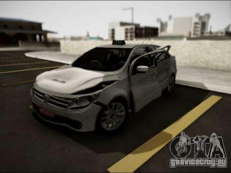 Volkswagen Voyage Taxi для GTA San Andreas вид изнутри
