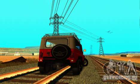 УАЗ 31514 6x6 для GTA San Andreas вид сзади слева