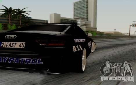 Audi RS5 2011 Police для GTA San Andreas вид справа
