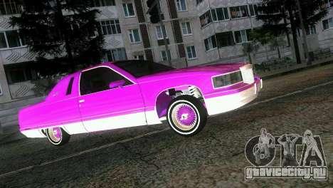 Cadillac Fleetwood Coupe для GTA Vice City вид изнутри