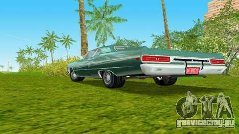 Plymouth Fury III 1969 Coupe для GTA Vice City вид изнутри