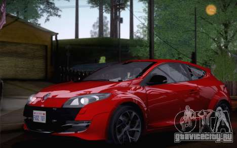 Renault Megane RS Tunable для GTA San Andreas вид сзади слева