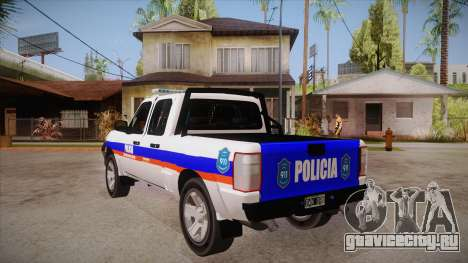 Ford Ranger 2011 Province of Buenos Aires Police для GTA San Andreas вид сзади слева