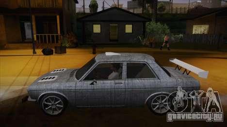 Datsun 510 RB26DETT Black Revel для GTA San Andreas салон