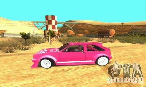 Hillclimb Club для GTA San Andreas вид изнутри