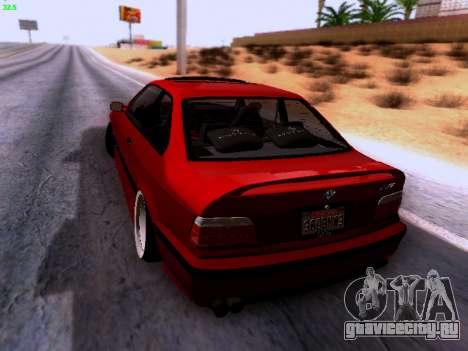 BMW M3 E36 Stance для GTA San Andreas вид сзади слева
