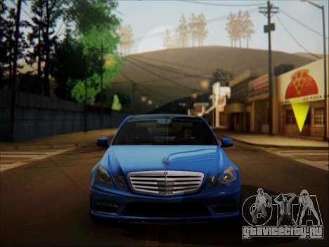 Mercedes-Benz E63 AMG 2010 для GTA San Andreas вид изнутри