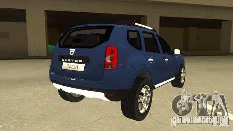 Dacia Duster 2014 для GTA San Andreas вид справа