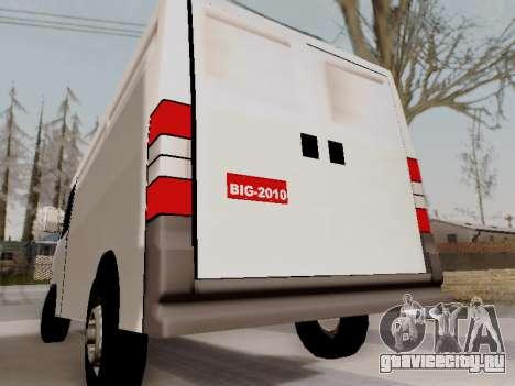 Fiat Ducato Cargo для GTA San Andreas вид сзади слева