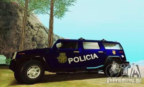 Hummer H2 G.E.O.S. для GTA San Andreas вид слева
