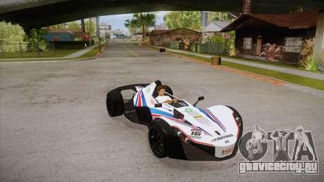 BAC Mono 2011 для GTA San Andreas вид сверху