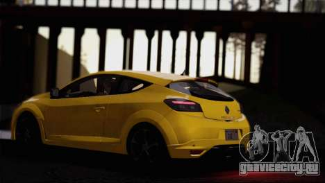 Renault Megane RS Tunable для GTA San Andreas вид сверху