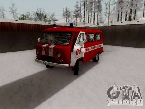 UAZ 452 Fire Staff Penza Russia для GTA San Andreas салон