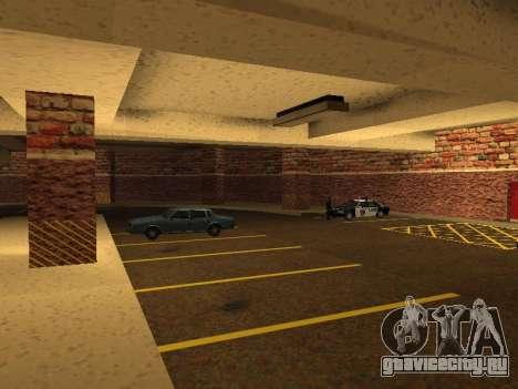 Новый интерьер подземного гаража полиции ЛС для GTA San Andreas седьмой скриншот